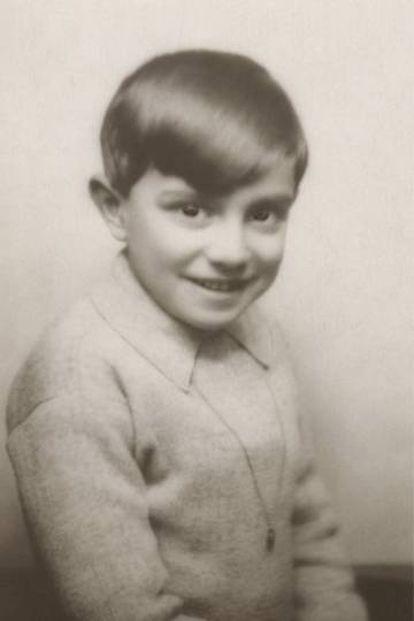 Xirau, de niño, en España.