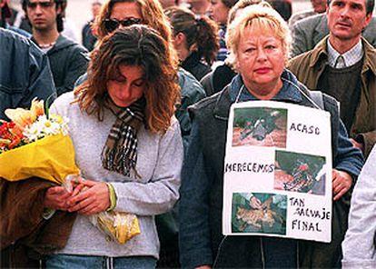 Aspecto de la manifestación celebrada ayer en tarragona por los derechos de los animales.