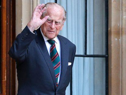 El duque de Edimburgo en una de sus últimas apariciones públicas, el 22 de julio de 2020, en el castillo de Windsor.