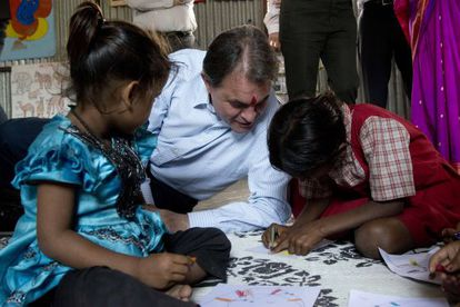 El presidente de la Generalitat, Artur Mas, durante su visita a Pune (India) el pasado noviembre.