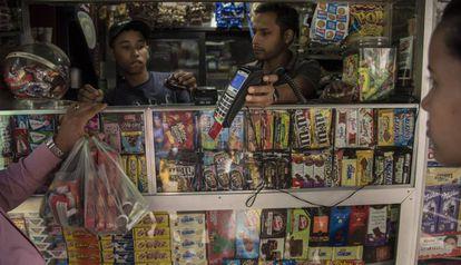 Un negocio que acepta el pago con tarjeta de crédito en Caracas.