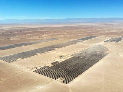 Parque solar de Quillagua (Chile) de la empresa Grenergy.