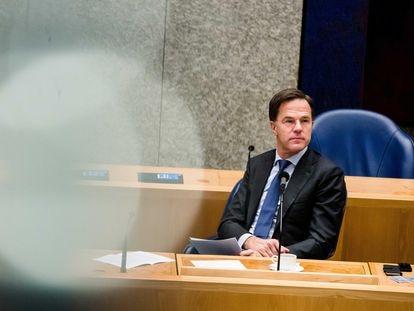 Mark Rutte, primer ministro holandés, en el Parlamento este miércoles.