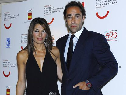 Raquel Revuelta y su exmarido Miguel Ángel Jiménez en un acto en 2007.