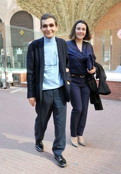 Adolfo Domínguez y su hija Adriana Domínguez.