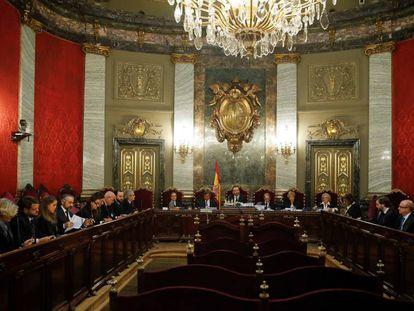 El Tribunal Supremo durante la revisión de una sentencia.