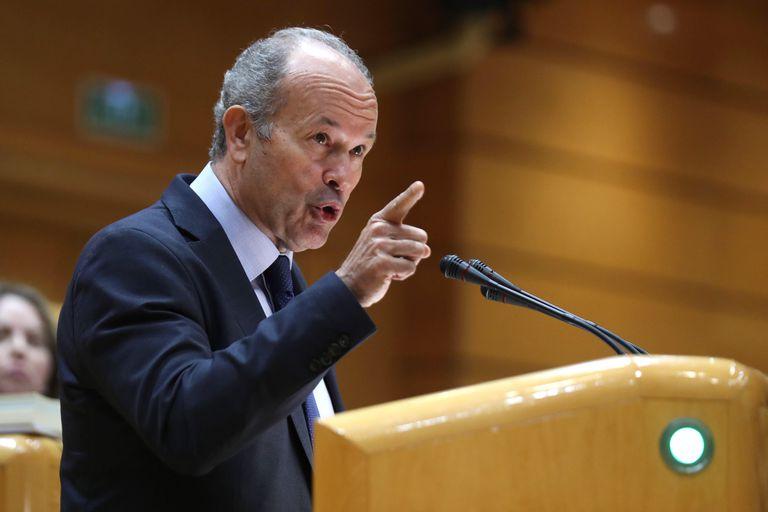 El ministro de Justicia, Juan Carlos Campo, durante una comparecencia en el Senado el pasado febrero.