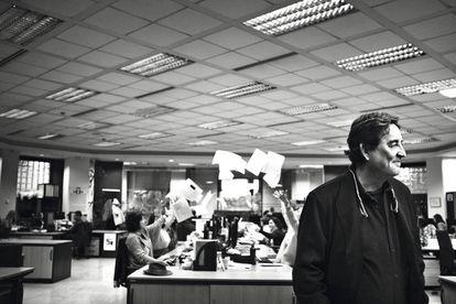 Luis García Montero en el Instituto Cervantes.