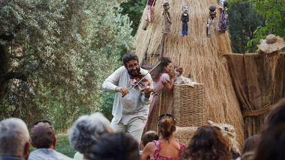 Un momento de la representación de 'Almavera', de la compañía Etcétera.