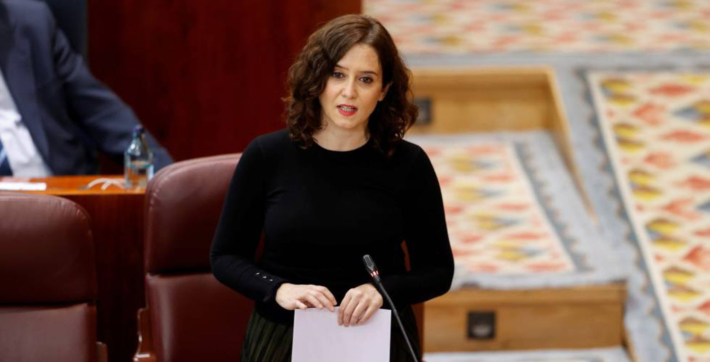 La presidenta de la Comunidad de Madrid, Isabel Díaz Ayuso. En vídeo, Ayuso anuncia el nombramiento del director del hospital de Ifema como viceconsejero de Salud Pública. (VÍDEO: ATLAS)