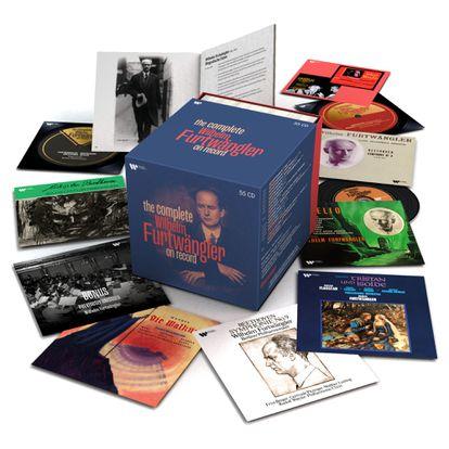 La caja editada por Warner Classics recupera muchas de las portadas de los discos originales.