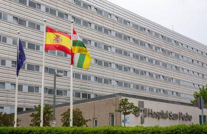 Vista del Hospital San Pedro de Logroño este martes donde se encuentra ingresado el líder del Frente Polisario, Brahim Ghali.