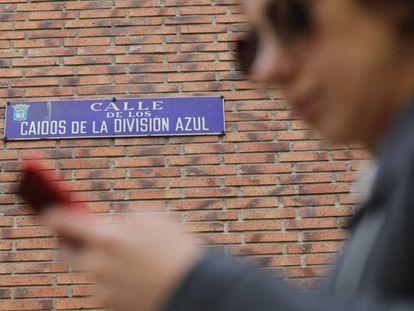 Una calle dedicada a los caídos de la División Azul.