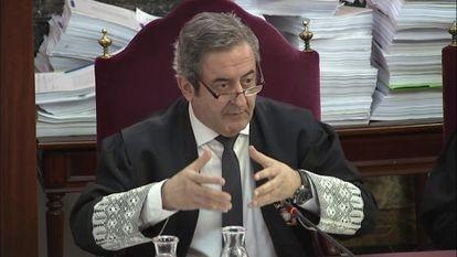 El fiscal Javier Zaragoza, durante el juicio del 'procés', en una imagen de 2019.