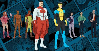 Los personajes de la serie 'Invencible'.