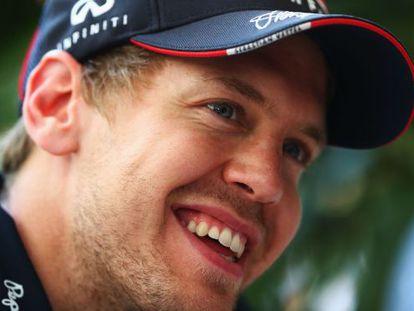 Vettel, en el circuito de Sepang.