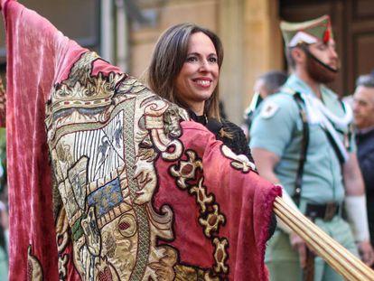 Rocío Díaz, nueva directora de la Alhambra, en la Fiesta de la Toma de Granada del pasado enero.