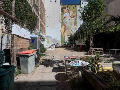 El solar ocupado ubicado en la calle Antonio Grilo bajo el nombre Patio Maravillas.