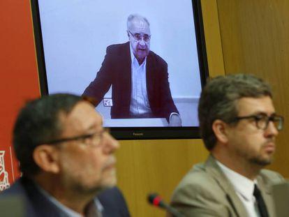 Rafael Blasco comparece desde la carcel de Picasent por videoconferencia.