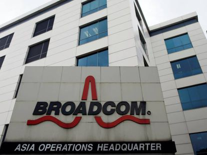 Oficina central de Broadcom  en Singapur.