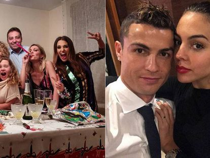 Paula Echevarría y Cristiano Ronaldo, pasan el fin de años con sus familias.