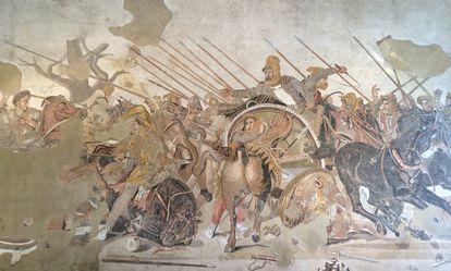 Mosaico de Alejandro Magno en Pompeya.