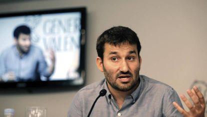 El consejero Vicent Marzà durante la rueda de prensa posterior al Consell de hoy viernes.