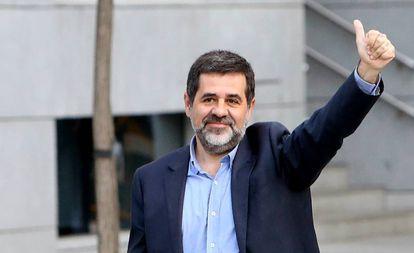 Jordi Sanchez a su llegada a la Audiencia Nacional para declarar por sedición en octubre.