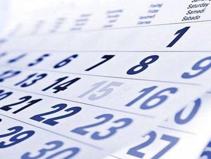 Calendario 2019: días festivos y puentes.