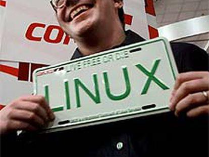 Linus Torvalds, creador del programa Linux.