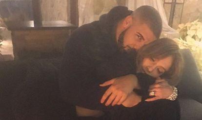 Jennifer Lopez y Drake, en la foto que han publicado en sus cuentas de Instagram.