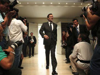 El presidente del Gobierno, Mariano Rajoy, en un acto celebrado ayer en La Moncloa.