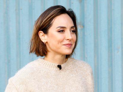 Tamara Falcó, en una grabación de televisión en noviembre de 2020 en Madrid.