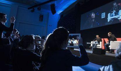 El cofundador y consejero delegado de WhatsApp, Jan Koum, durante el encuentro internacional de emprendedores 4 Years From Now.