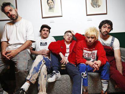 El grupo de música Cupido en la Casa de Canarias de Madrid.