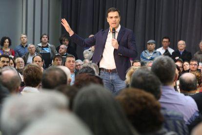 Pedro Sánchez en Viladecans (Barcelona).