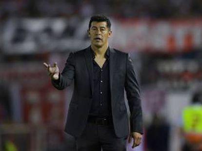 Jorge Almirón, en su etapa como entrenador de Lanús.