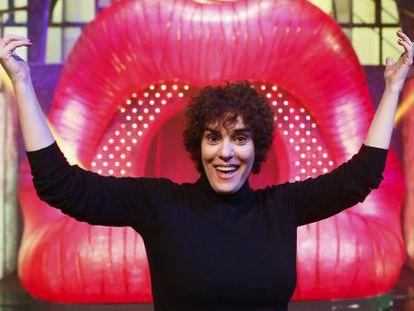 Anabel Alonso, el 18 de diciembre pasado, en el escenario de 'The Hole'.