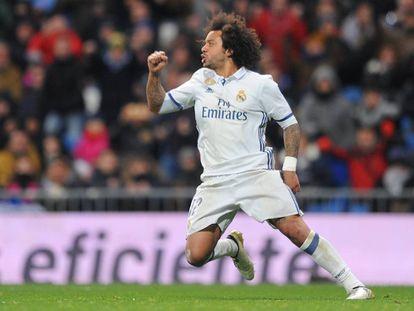 Marcelo, durante el partido ante el Celta.