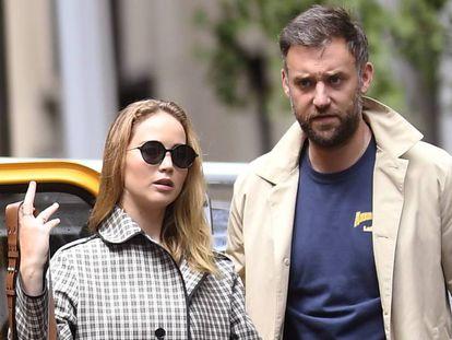 Jennifer Lawrence y Cooke Maroney, en septiembre en Nueva York.