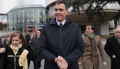 Pedro Sánchez, este jueves en Estrasburgo.