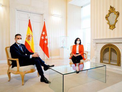 Pedro Sánchez e Isabel Díaz Ayuso, en septiembre de 2020.