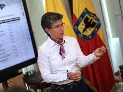 Alcaldesa de Bogotá Claudia López, balance de Seguridad del primer trimestre del 2020 con funcionarios del Gobierno Estatal.