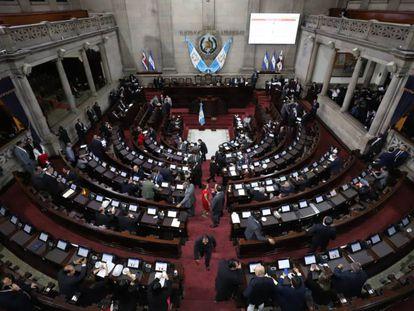 Los legisladores de Guatemala durante una sesión.