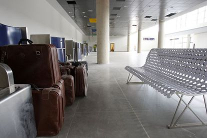 Interior del aeropuerto de Castellón.
