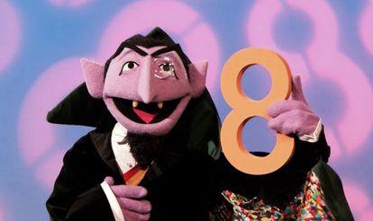 Count von Count, el popular personaje de 'Barrio Sésamo', en un fotograma de la serie.