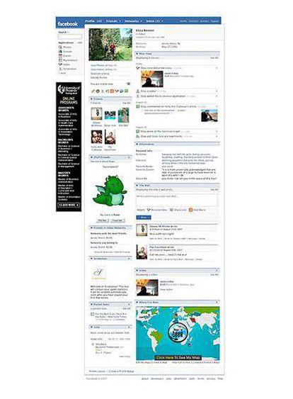 Un pantallazo de Facebook, una enorme red social en Internet.