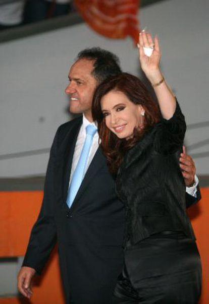 Daniel Scioli y Cristina Fernández, en 2011.