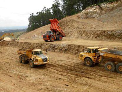 Fotografía de las obras de la autovía distribuida por la Xunta el pasado junio.