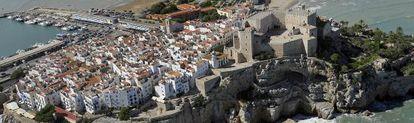 Vista aérea del castillo de Peñíscola.